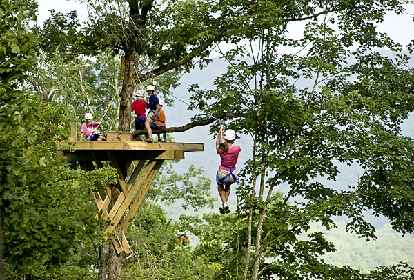 Take it to the skies with a thrilling ride through 7 zip lines, a sky bridge & a rope swing.