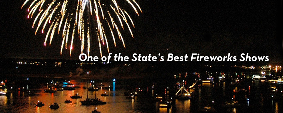 Fireworks at 32nd Annual Wrightsville Beach Holiday Flotilla