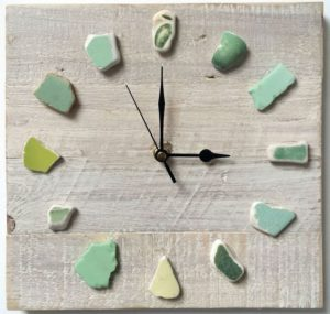 Sea Glass Clock