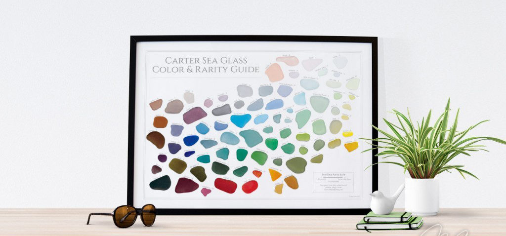 Sea Glass Rarity Color Guide