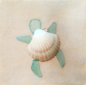 Sea Glass Sea Turtle