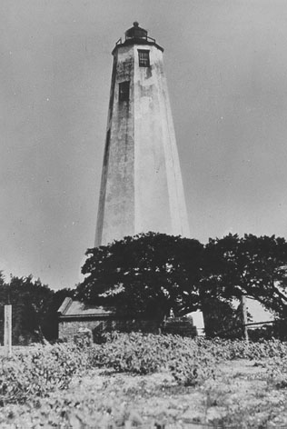 Bald Head Island Lighthouse in the 1930s.