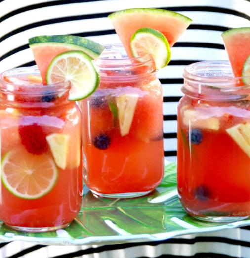 Watermelon Sangria Recipe Island Life NC