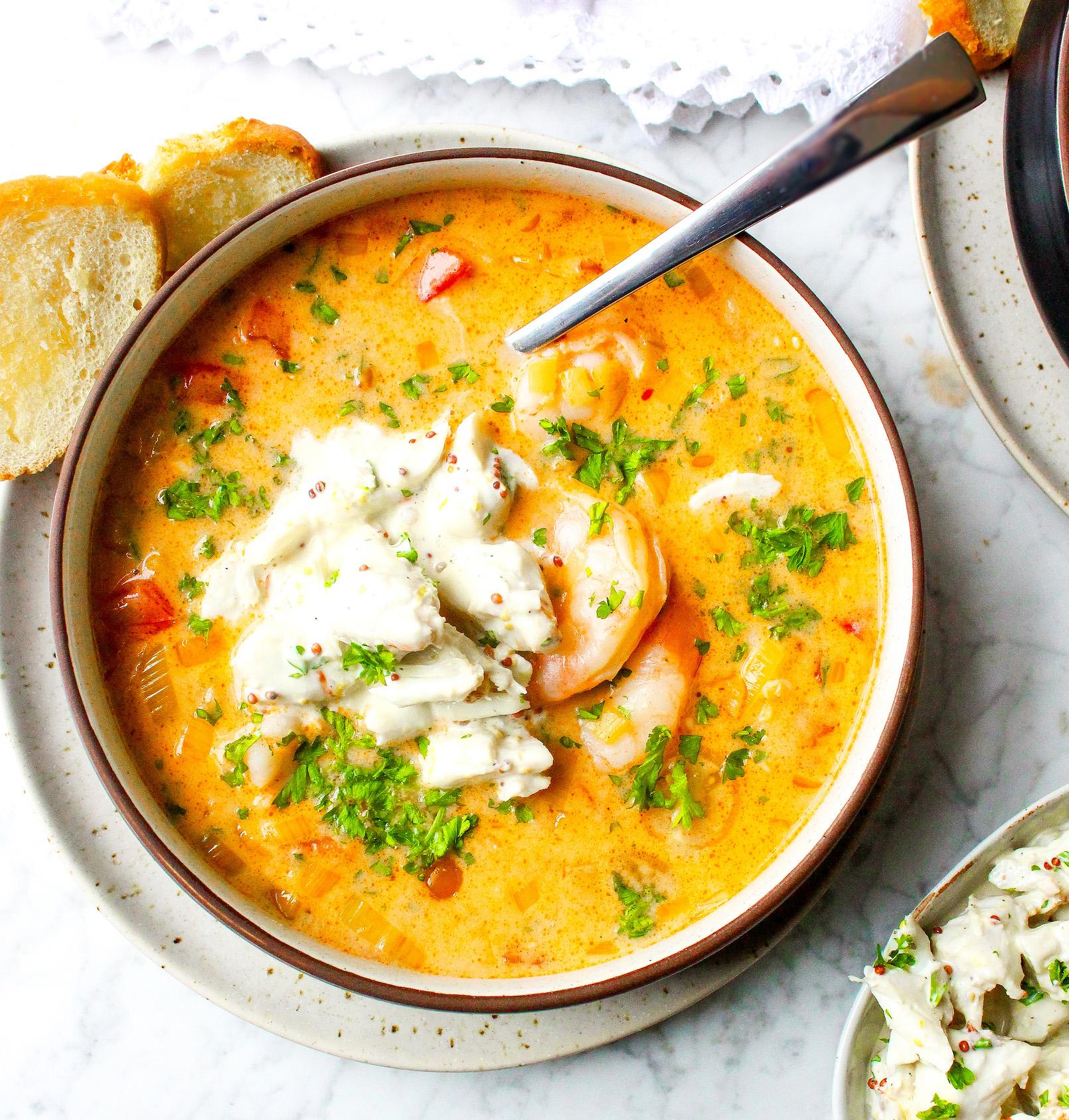 RECIPE- Crock Pot Shrimp & Crab Bisque