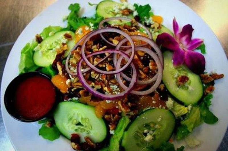 Islander Salad at the Isles Restaurant and Tiki-Bar on Ocean Isle Beach NC - Island Life NC Magazine
