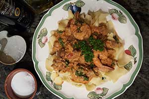 Shrimp & Mushroom Stroganoff
