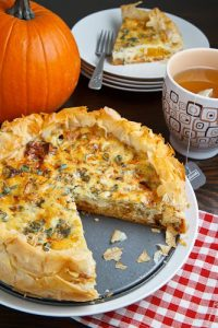xRoasted Pumpkin Caramelized Onion Quiche