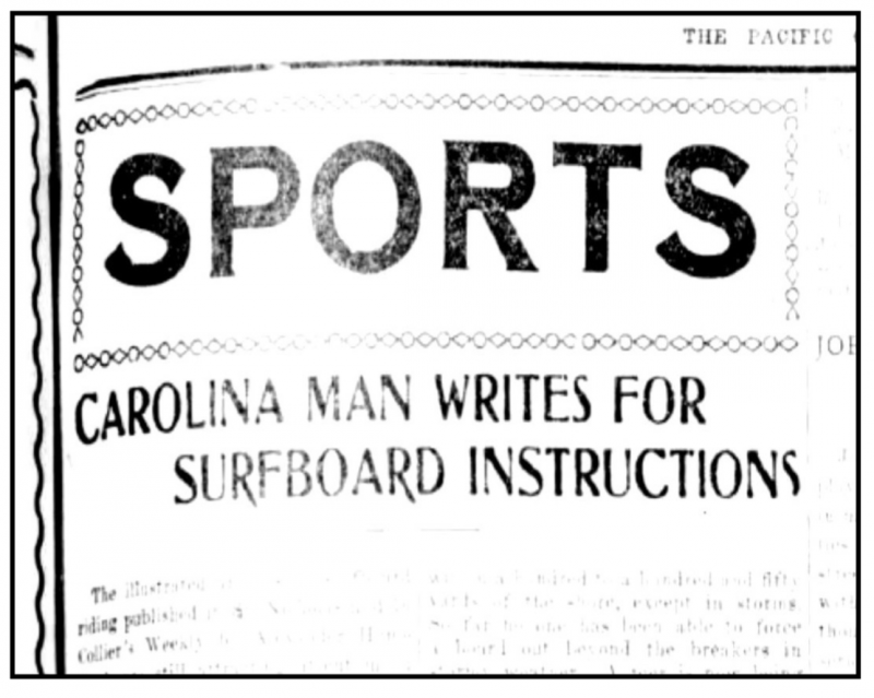 A History Of NC Surfing
